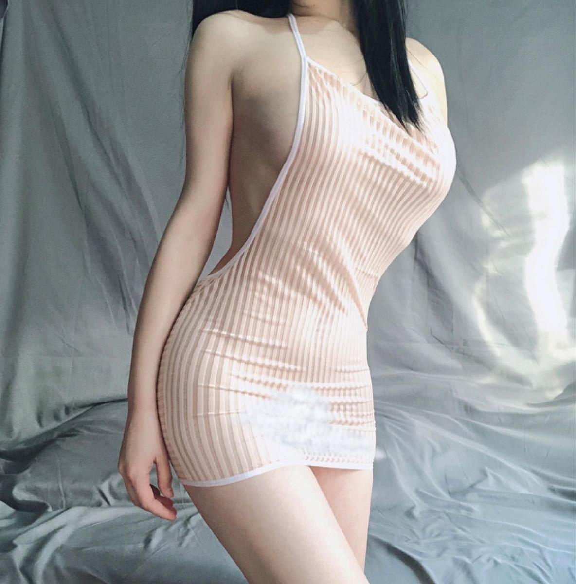 ☆過激☆   ミニワンピース   ブラック   SーL   透け透け   伸縮性   ボディコン   コスプレ衣装   キャバ嬢
