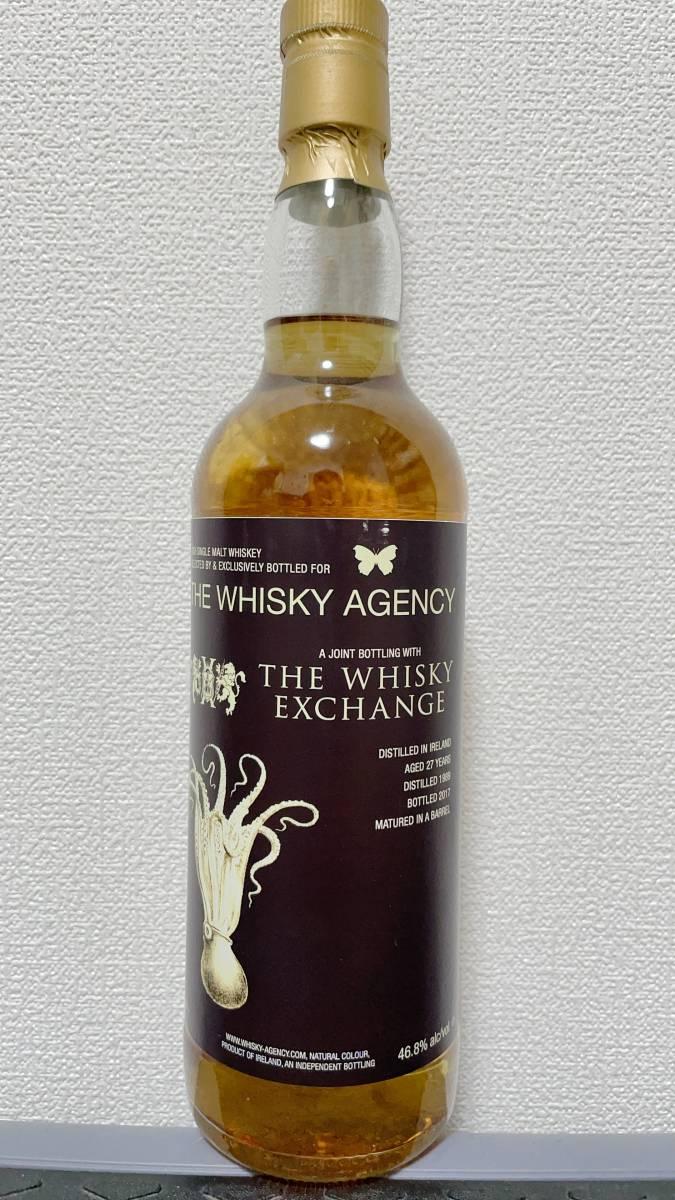 アイリッシュシングルモルト 1989 - 2017 46.8% for The Whisky Agency and The Whisky Exchange_画像1