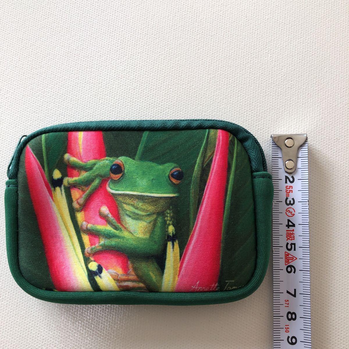 オーストラリア お土産 小物入れ ミニポーチ ポーチ ファスナーポーチ 小銭入れ グリーン 爬虫類_画像4