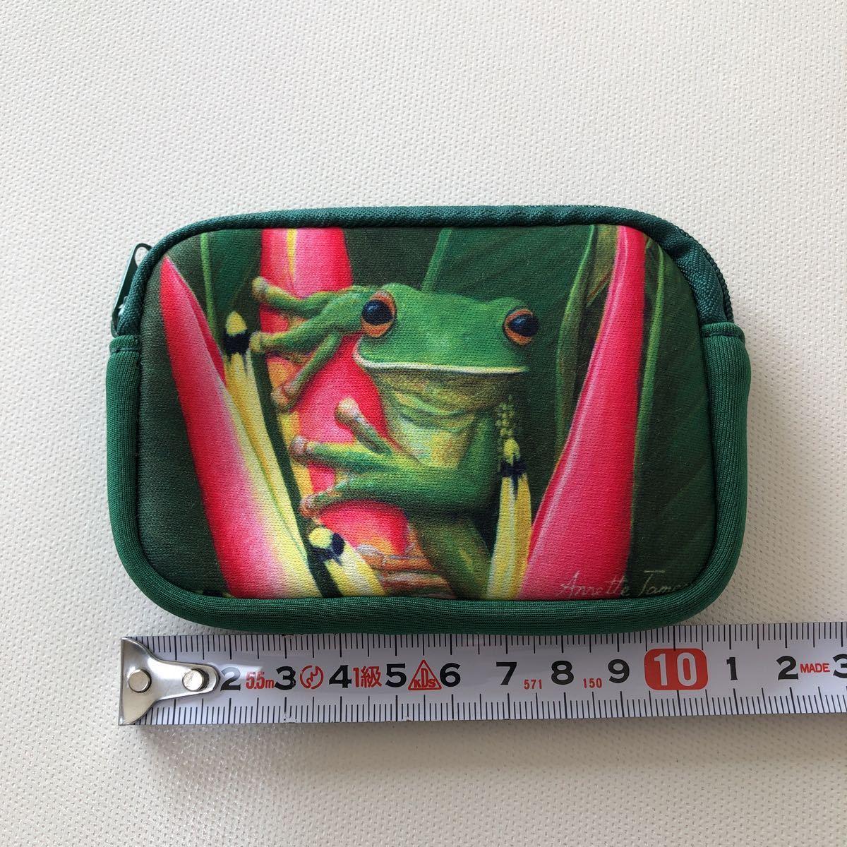 オーストラリア お土産 小物入れ ミニポーチ ポーチ ファスナーポーチ 小銭入れ グリーン 爬虫類_画像3