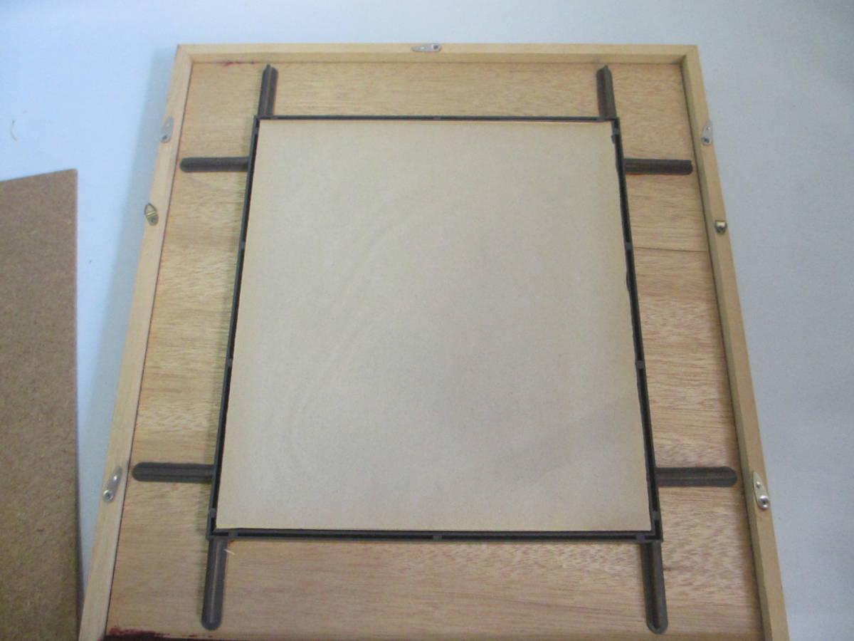 サトウハチロー 佐藤八郎 ガラス画  ガラス額入り 額 41,6x38,5_ガラスの裏です