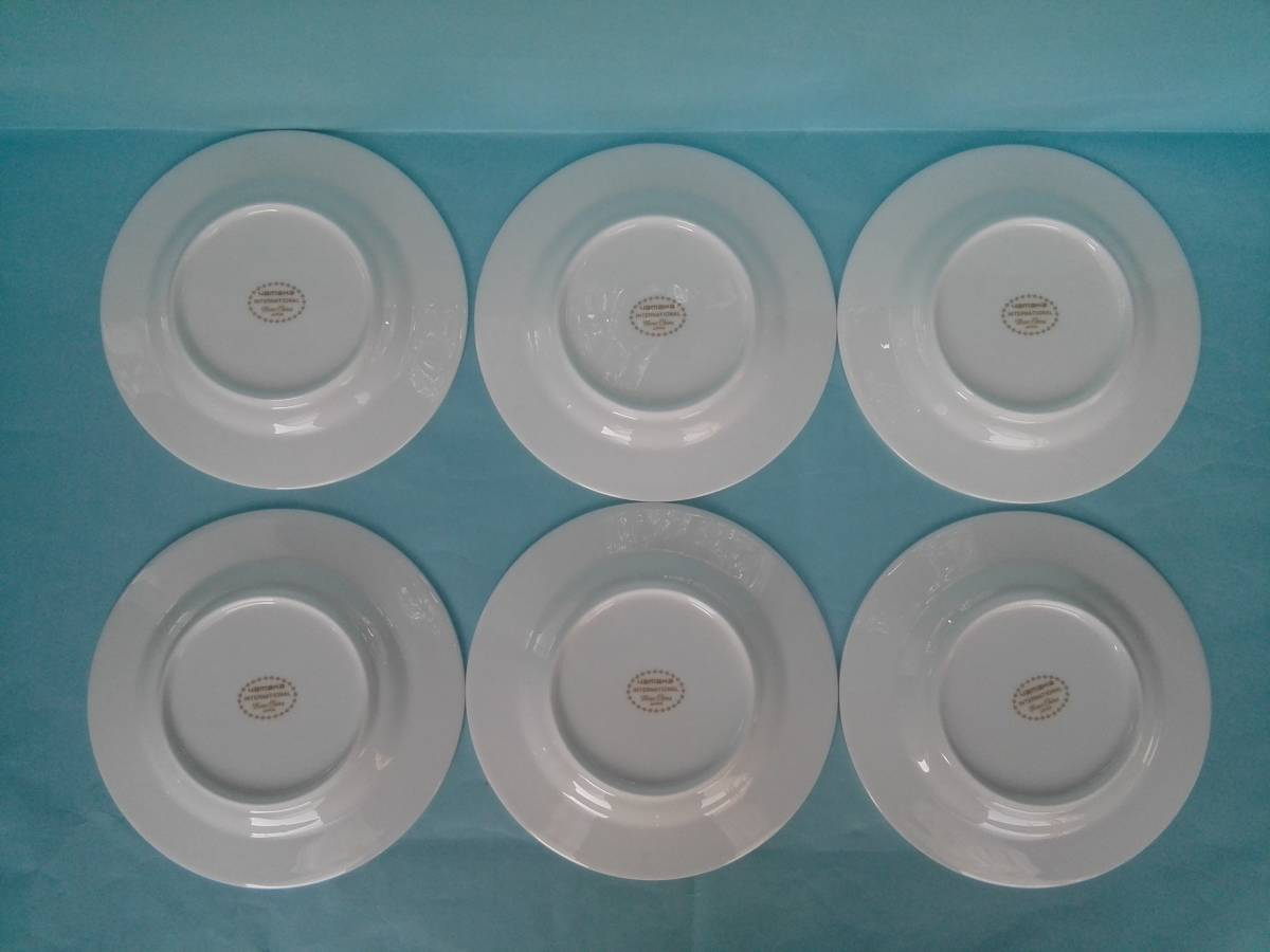 YAMAKA ヤマカ  ボーンチャイナ デザートプ&ケーキプレート デザート&ケーキ皿 17㎝ 6枚   _画像2