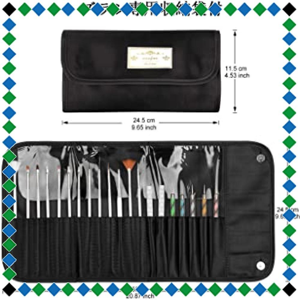 Morefine ネイルブラシ ジェルネイルブラシ ネイル筆15本 カラードットペン5本 ネイルアートブラシ用ホルダー2本、パレ_画像7