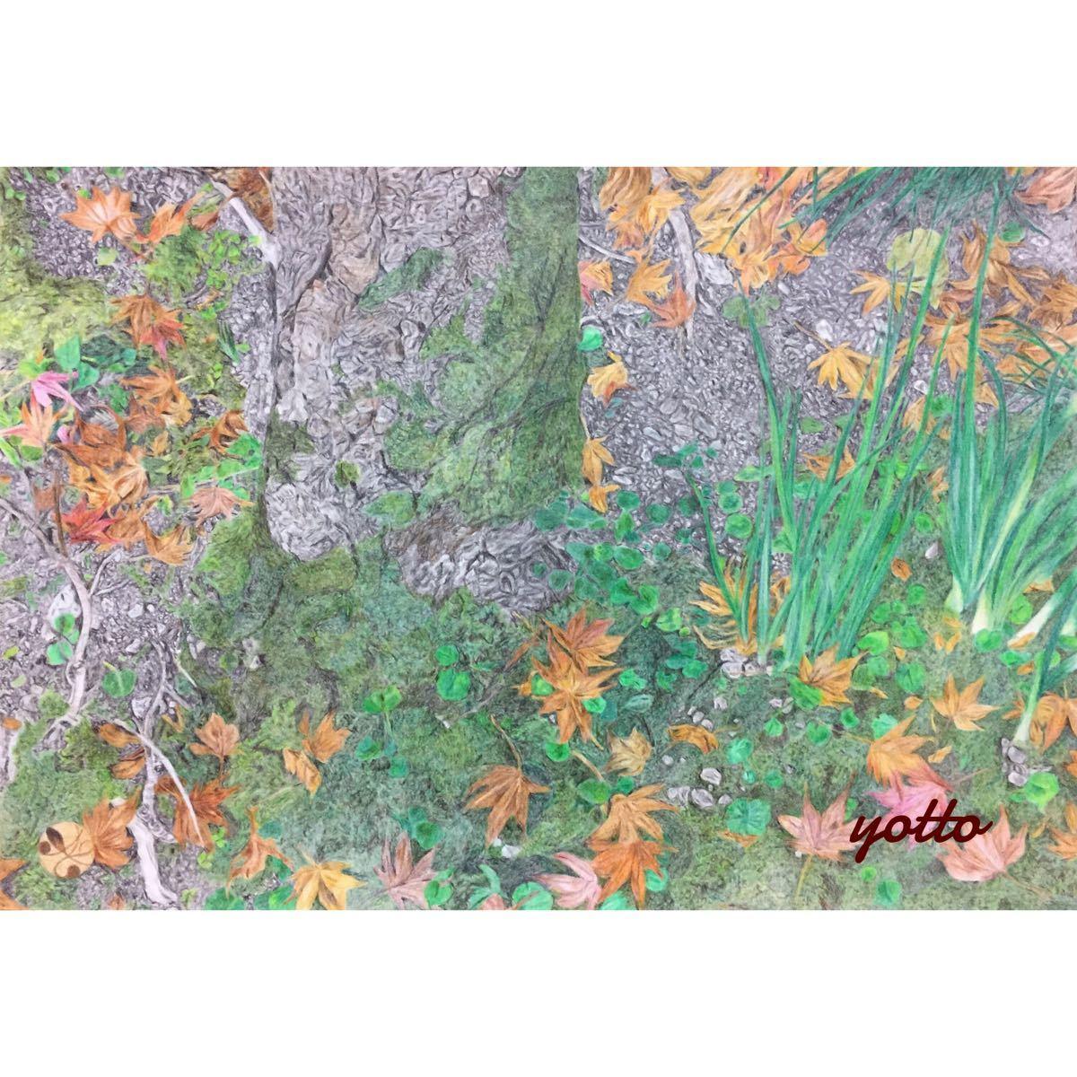 色鉛筆画・3部作「 銘 」「 盃 」「 結 」B4・額付き◇◆手描き◇原画◆風景画◇◆yotto_画像1