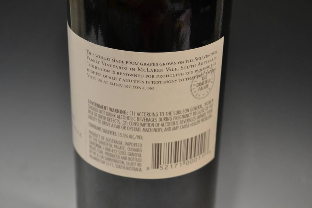 ■大阪 堺市 引き取り歓迎!■シャービントン Shirvington Shiraz 2006 マクラーレンベール オーストラリア 赤ワイン レア 送料1200円■_画像7