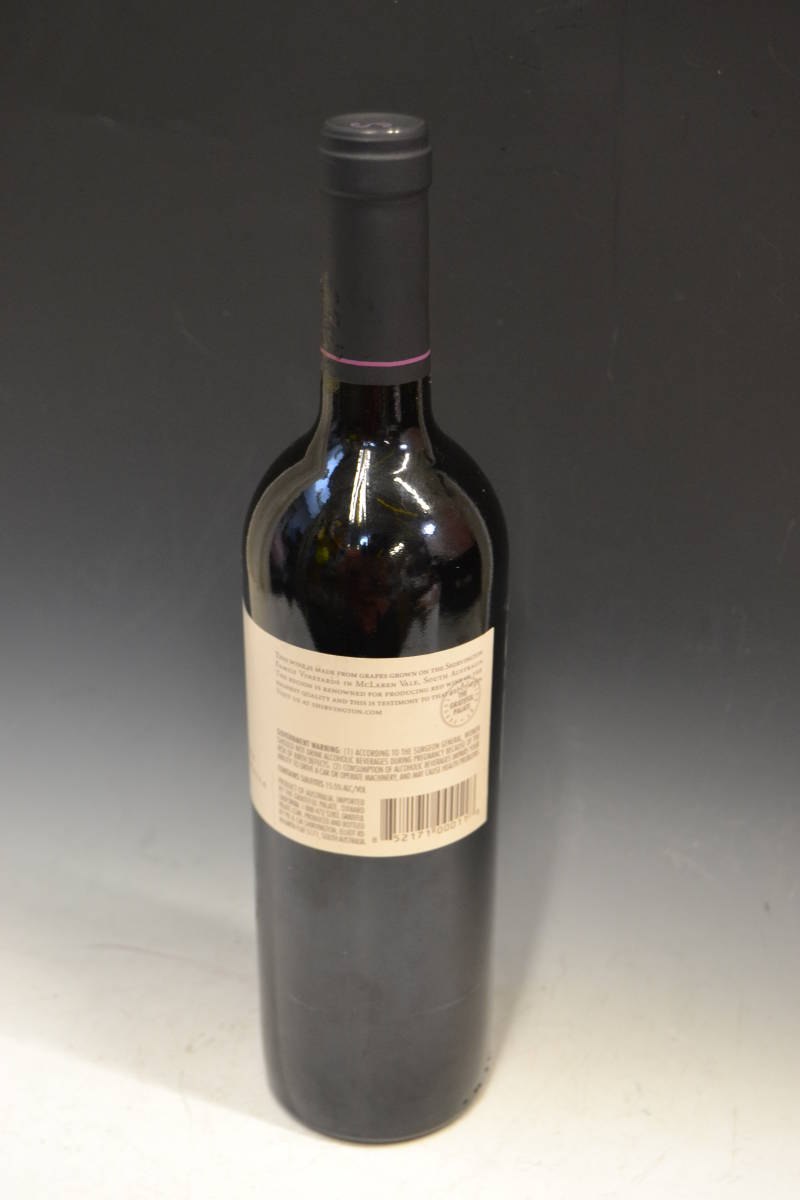 ■大阪 堺市 引き取り歓迎!■シャービントン Shirvington Shiraz 2006 マクラーレンベール オーストラリア 赤ワイン レア 送料1200円■_画像6
