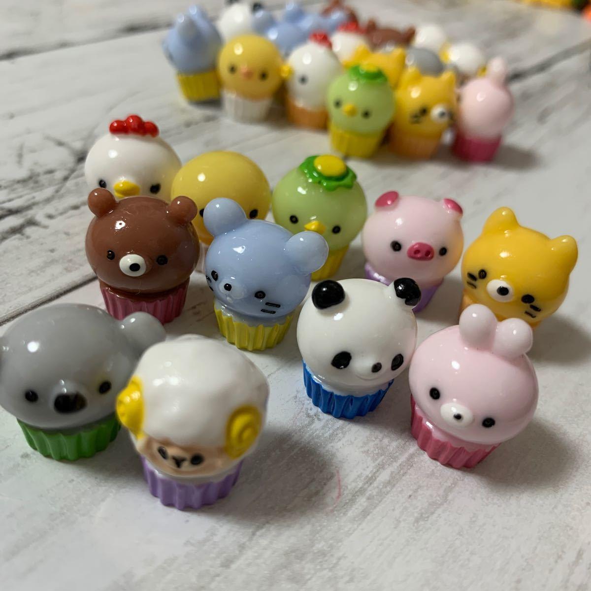動物カップケーキデコパーツ27コ送料込み850円