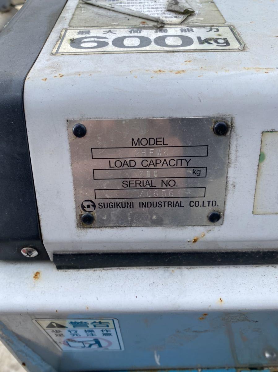 家庭用コンセント100V ハンドリフト フォークリフトトヨタ 中古ウォーキー 600kg バッテリー式 2HFW6 ジャンク品、引き取り限定_画像9