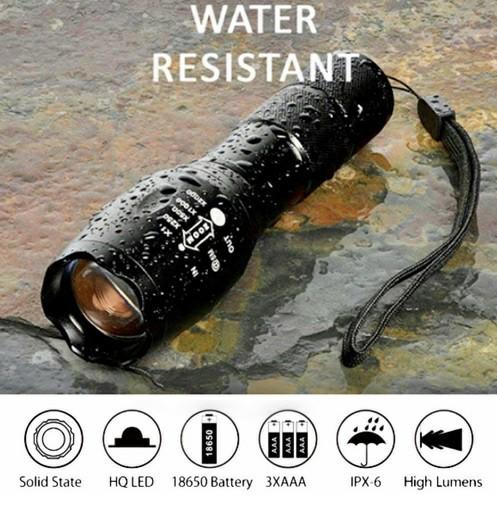 USBケーブル付き☆懐中電灯 led USB充電式 強力 防水 充電