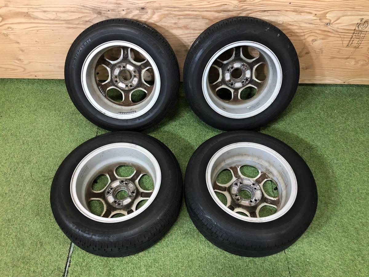 社外 14×6J ホイール & タイヤ BRIDGESTONE 175/65R14 4本セット ~ スイフトスポーツ HT81S 他 ~_画像8