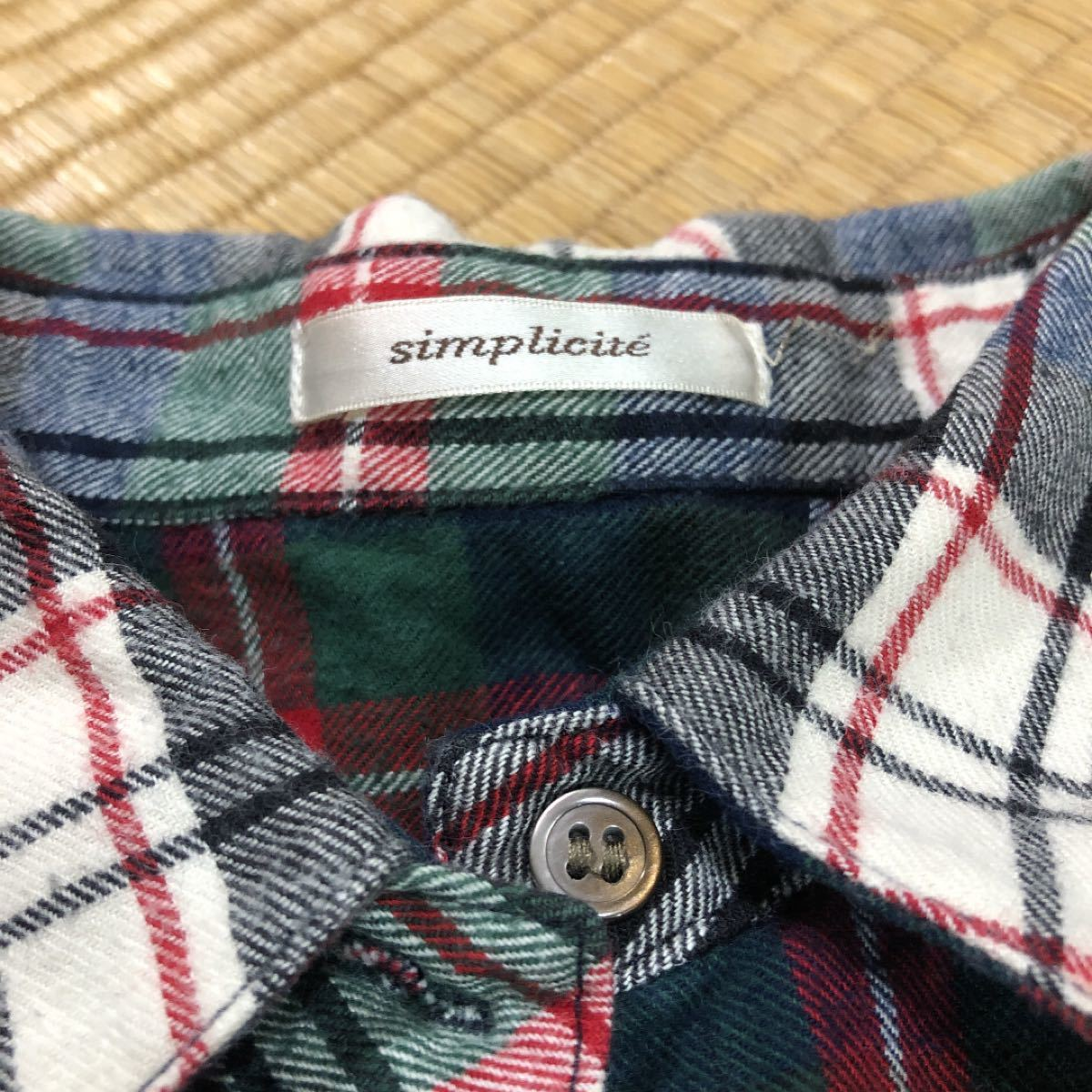 チェックシャツ シンプリシテェ 長袖シャツ チェック柄 長袖 ネルシャツ