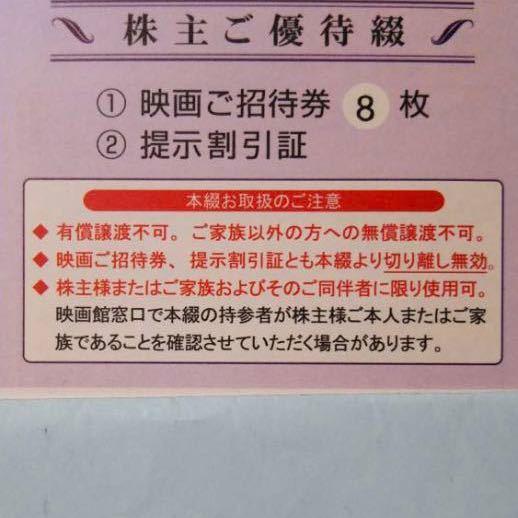 ★最新東京テアトル株主優待 映画券8枚綴+割引証   男性★_画像1