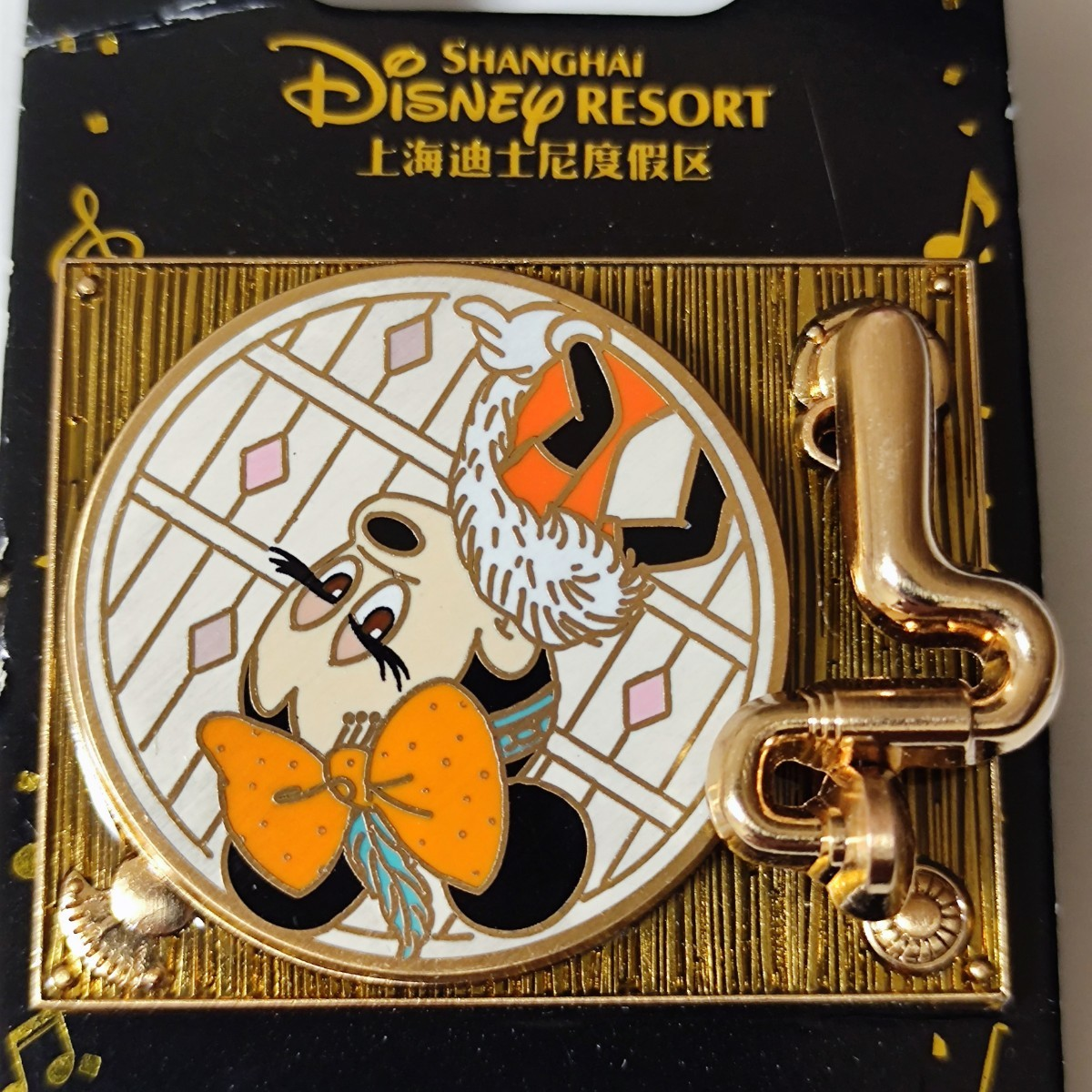 海外限定 日本未発売 ディズニー クラシック レコードプレーヤー ミニーマウス  ピンバッジ ピンバッチ