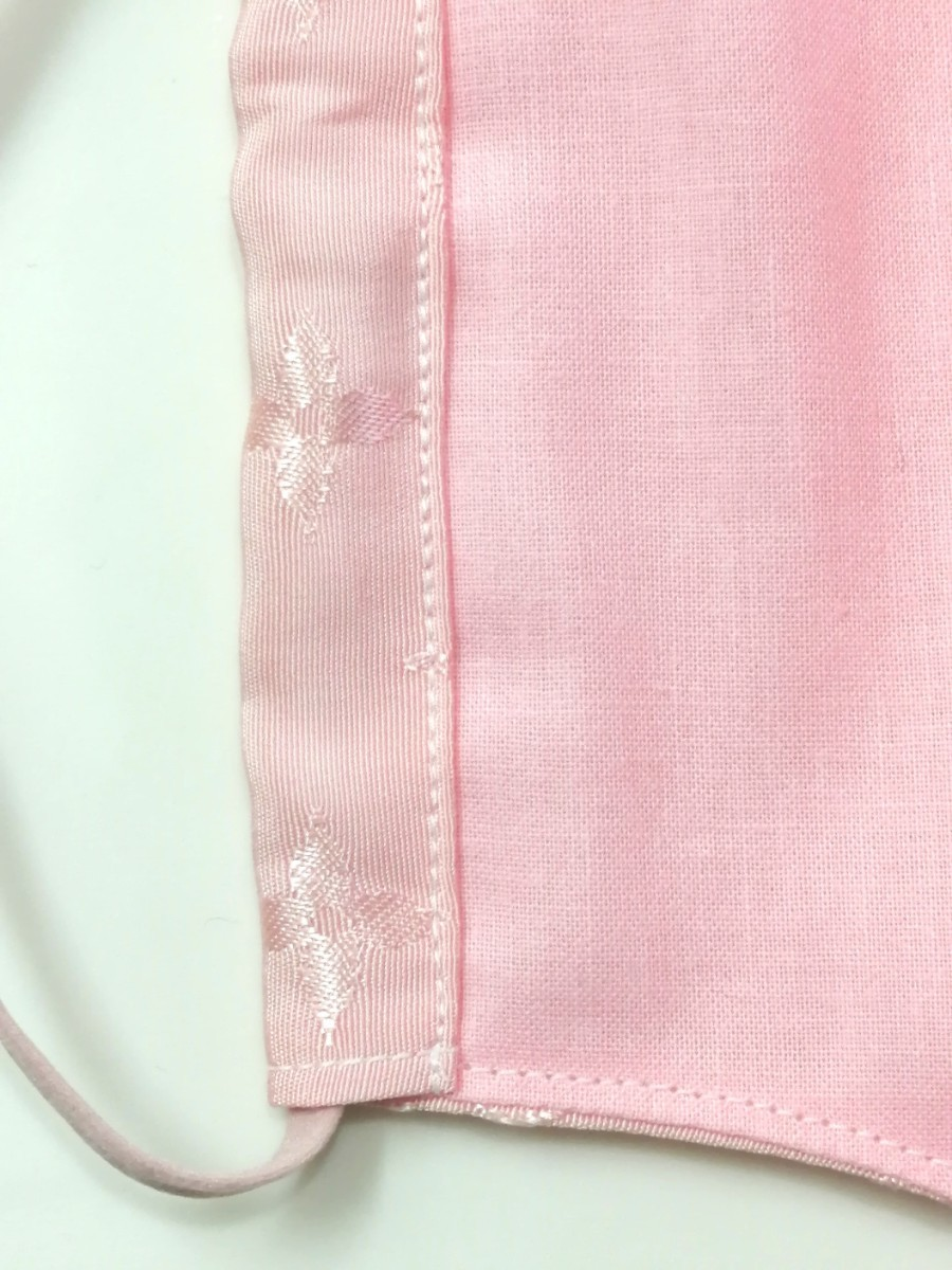 立体インナー ノーブランド モノグラム柄 ハンドメイド ピンク 大きめサイズ ゴムストッパー付き