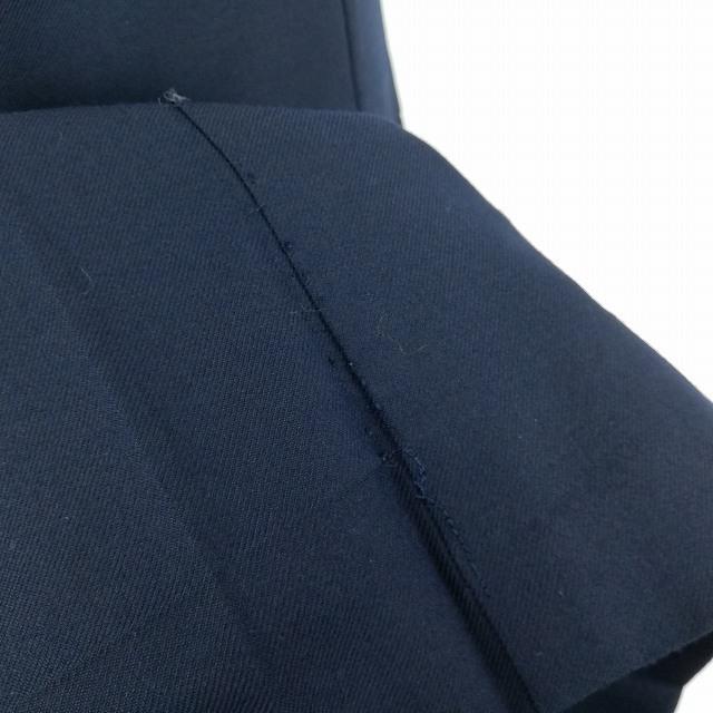 1円 セーラー服 ジャンパースカート スカーフ 上下3点セット 指定 冬物 長袖 白3本線 女子 学生服 中学 高校 紺 制服 中古 ランクC NA5194_画像8