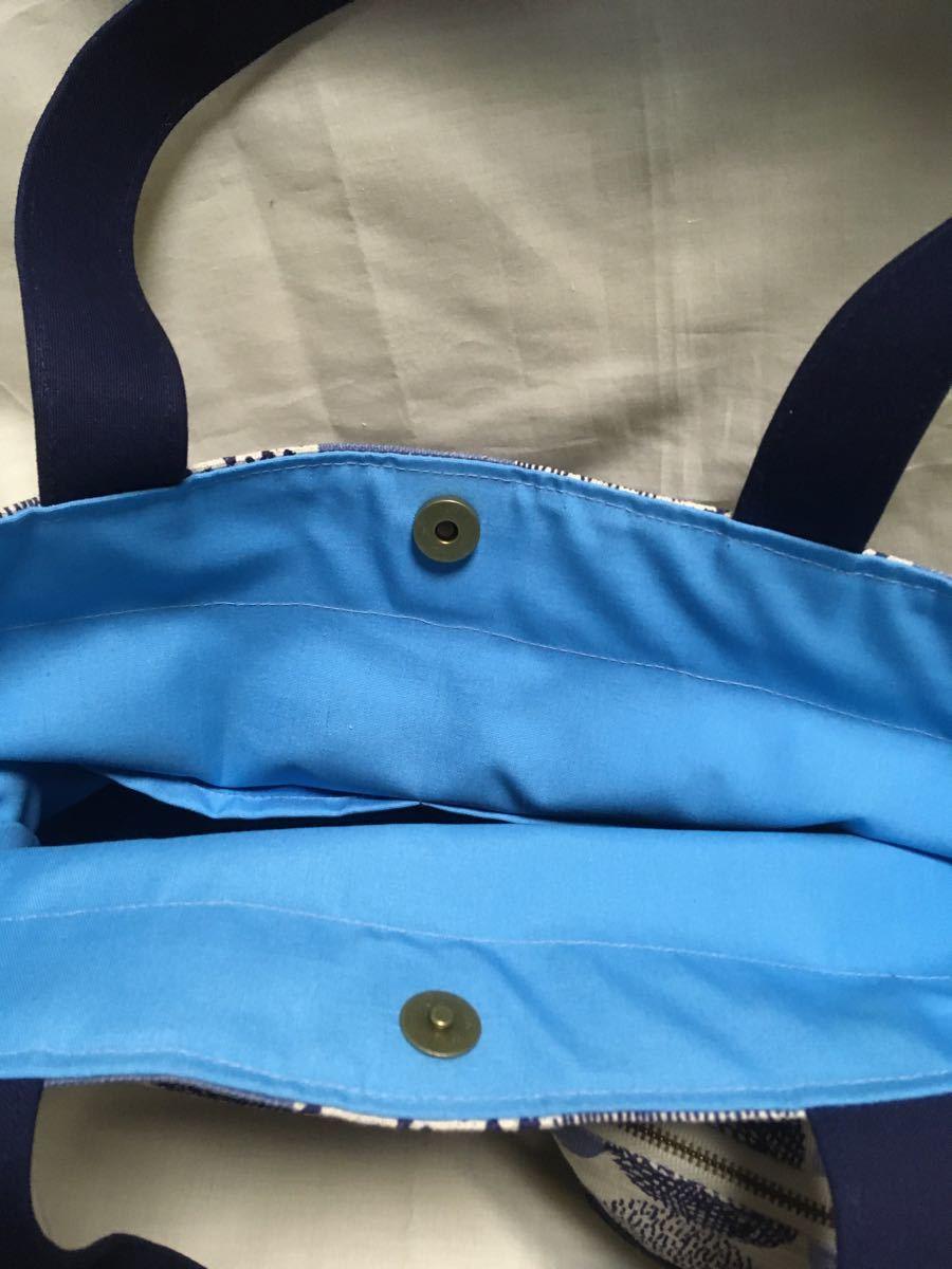 トートバッグ (肩がけトート)・ポーチのセット(BRボール))・ショルダーバッグ ハンドメイド