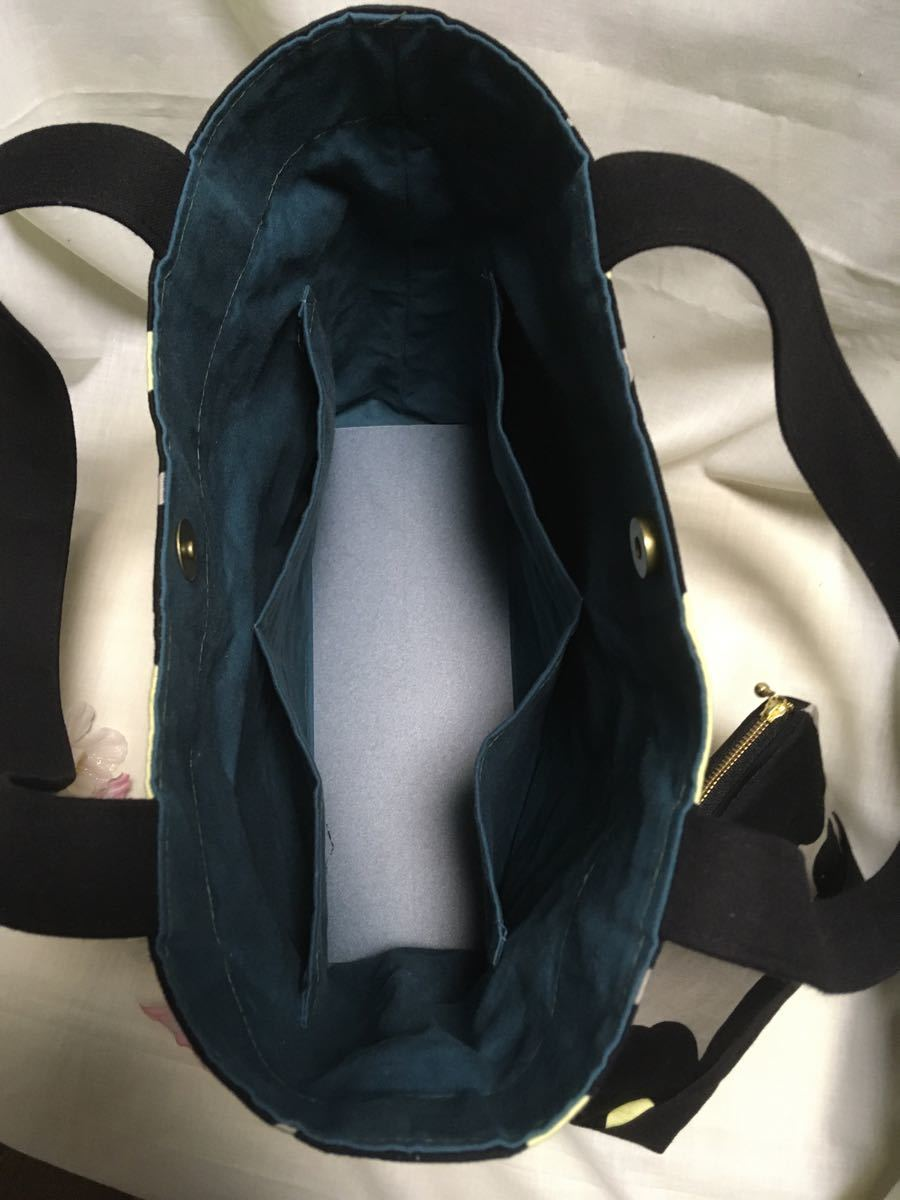 トートバッグ (肩がけトート)・ポーチのセット(BCフラワー)・ショルダーバッグ ハンドメイド