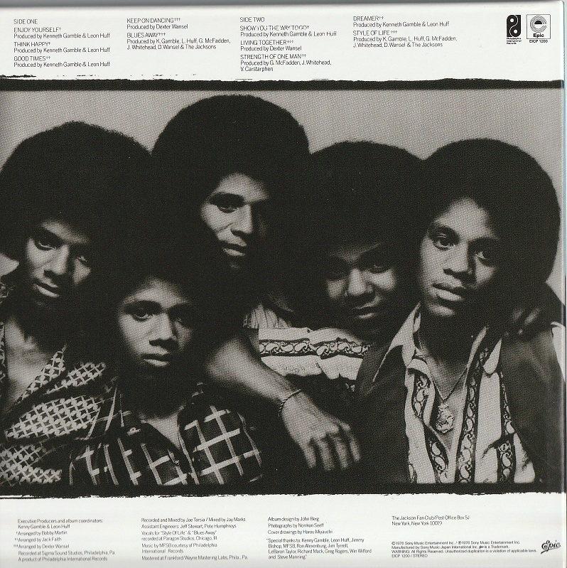 【中古・紙ジャケ・美品】The Jacksons / 僕はゴキゲン (国内盤・帯付き, デジタル・リマスター, 完全生産限定盤, 1976年作品)_画像2