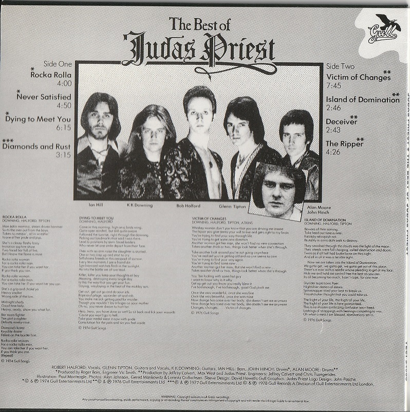 【中古・紙ジャケ】Judas Priest / The Best Of Judas Priest (国内盤・帯付き, 盤質良好, ボーナストラック, 完全限定プレス, 1978年作品)_画像2