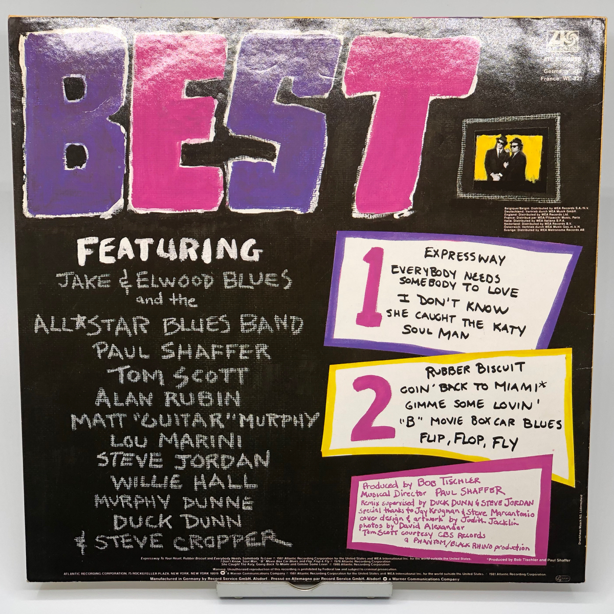 THE BEST OF THE BLUES BROTHERS ★中古LP★ATLK50858 (SD19331) ATLANTIC