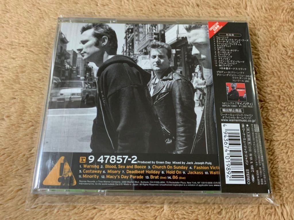 ウォーニング Warning グリーン・デイ Green Day 国内盤ボーナストラック収録 帯付き 特典ステッカー付き CD 送料無料_画像2