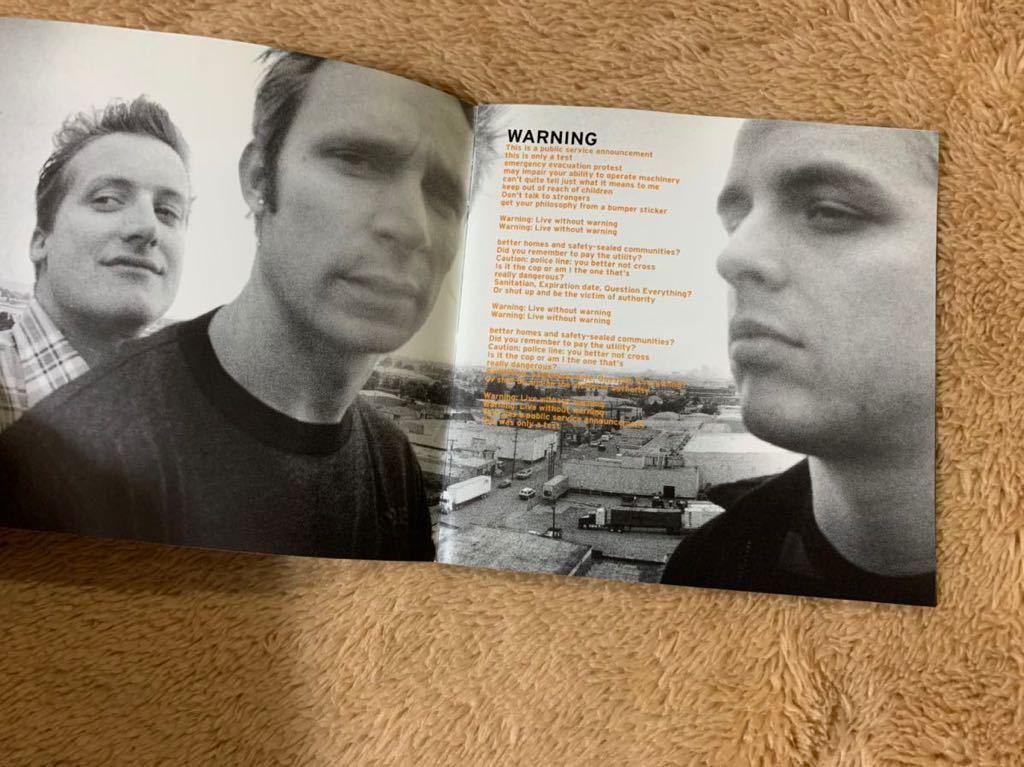ウォーニング Warning グリーン・デイ Green Day 国内盤ボーナストラック収録 帯付き 特典ステッカー付き CD 送料無料_画像8