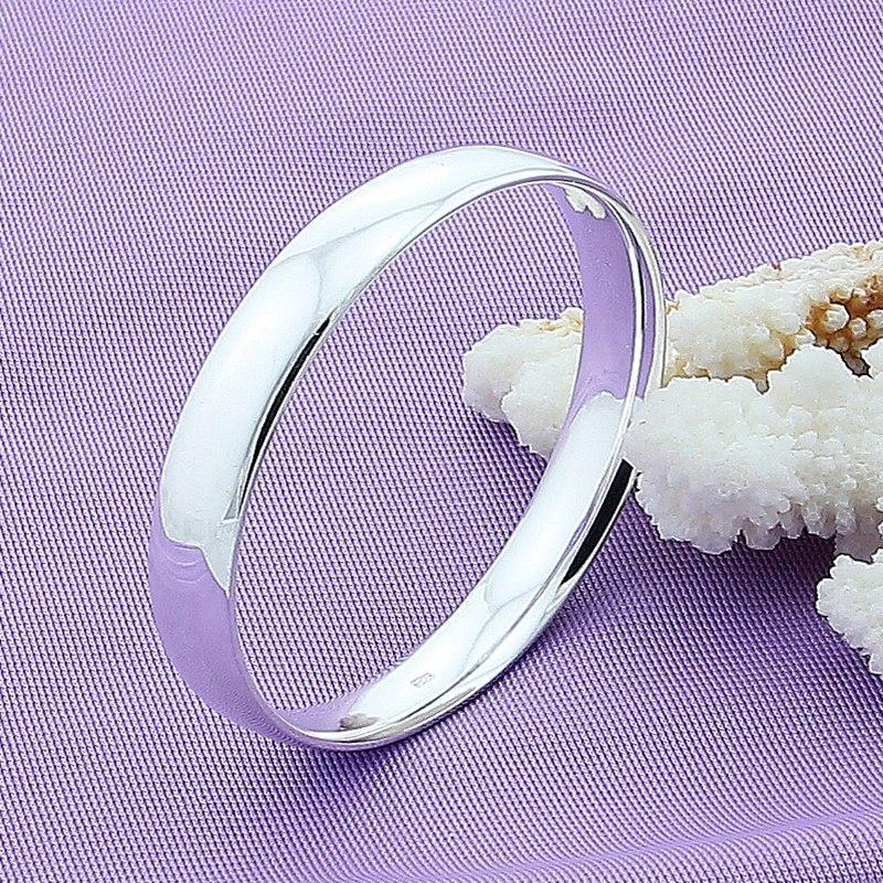 Doteffil 925 スターリングシルバー 10 ミリメートル円滑な固体ブレスレットの腕輪男性の結婚式婚約パーティージュエリー_画像2