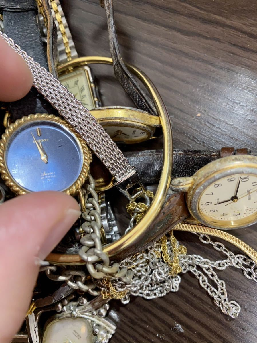 1円 時計 山 まとめ ロンジン シルバー 925 懐中時計 セイコー モバードなど 29本 腕時計 ジャンク_画像6