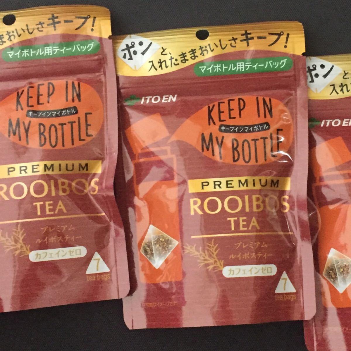 伊藤園 KEEPIN MYBOT TLEプレミアムルイボスティーティーバッグ 7袋×3