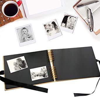 イエロー 手作り アルバム DIY 写真集 黒台紙40枚 スクラップブッキング 手作りフォトブック ラブメモリー 写真収納 結婚_画像5