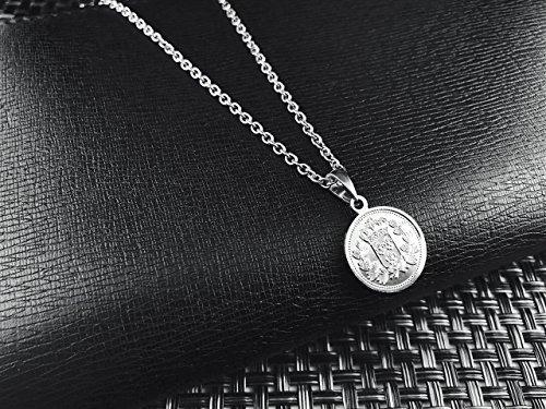 [ラグレ]LUXRE コイン ロング ネックレス シルバー ペンダント チェーン約55cm~60cm (調整アジャスター付き)L_画像4