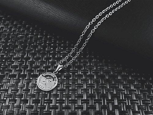 [ラグレ]LUXRE コイン ロング ネックレス シルバー ペンダント チェーン約55cm~60cm (調整アジャスター付き)L_画像3