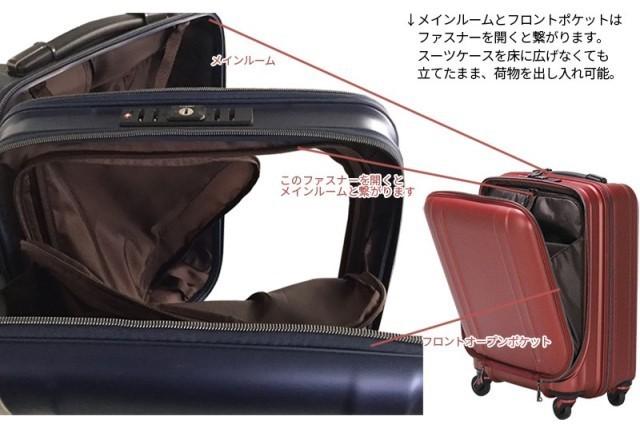 【送料無料】新品 スーツケース 機内持ち込み 小型 超軽量 フロントオープン キャリー ゼログラZER2053-46 4輪TSA マットブラック黒S A314_画像は別商品。仕様は同様です。