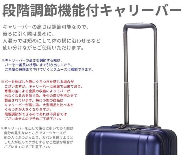 【送料無料】新品 スーツケース 機内持ち込み 小型 超軽量 フロントオープン キャリー ゼログラZER2053-46 4輪TSA マットブラック黒S A314_画像8