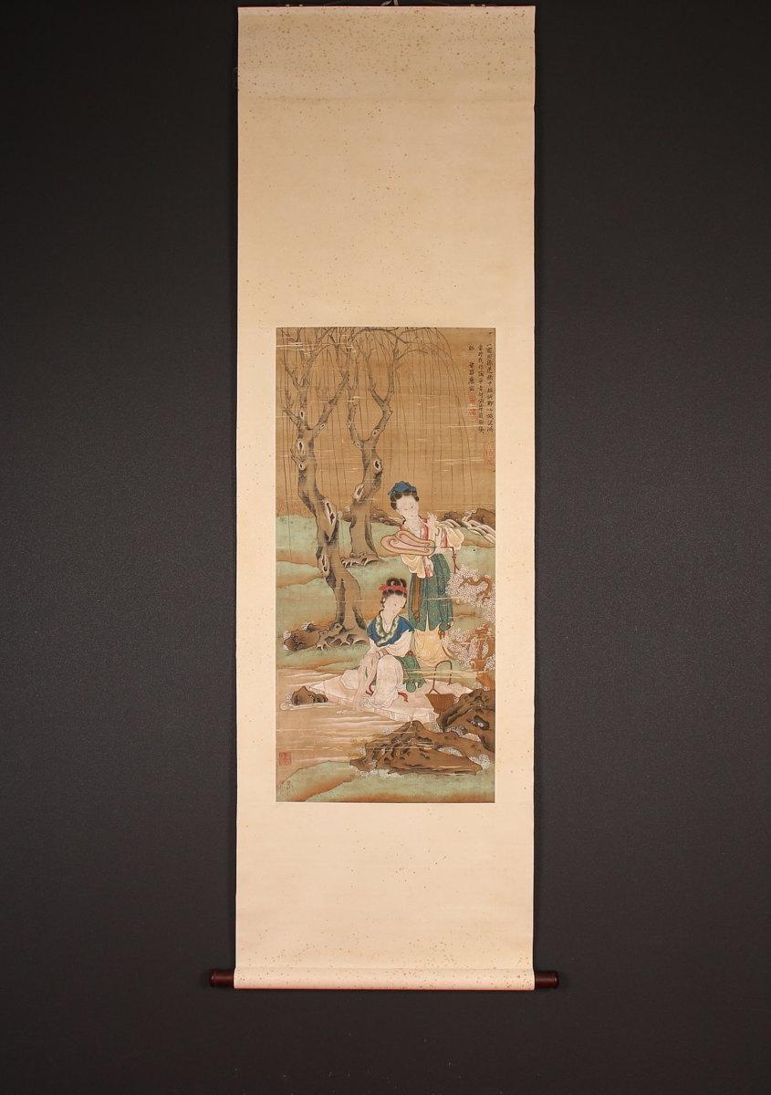 【模写】【一灯】委託品 ip5541〈唐寅〉唐美人図 中国画 明代