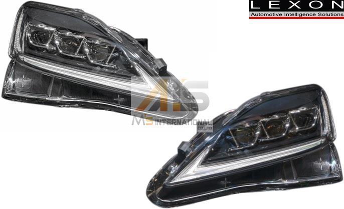 【M's】LEXUS IS-F/IS250/IS350 (2005y-2013y) LEXON 3LEDビームヘッドライト(流れるウインカー機能付) ※要適合確認 USE20 GSE20 21 25_画像1