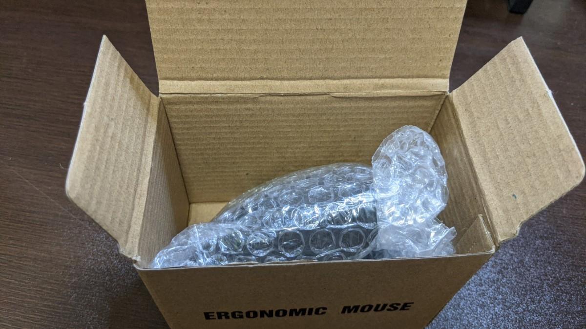 マウス エルゴノミクス ワイヤレス 無線 5ボタン  電池式 光学式 マイクロレシーバー