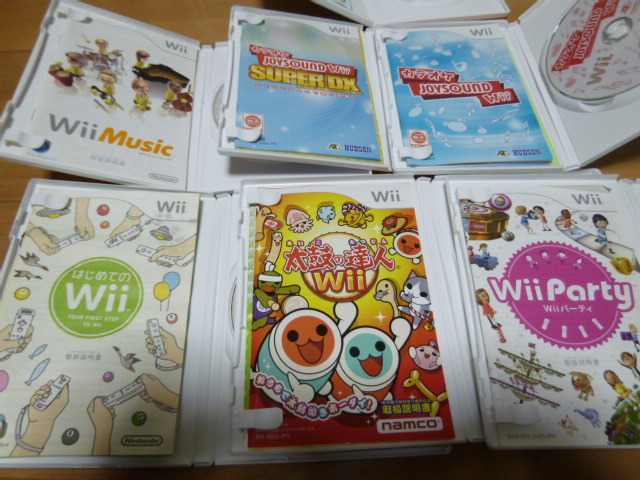 WH46【送料無料 即日配送 動作確認済】Wii 本体 4人ですぐに遊べるセット 太鼓達人 タタコン カラオケ マイク Wiiパーティー ミュージック