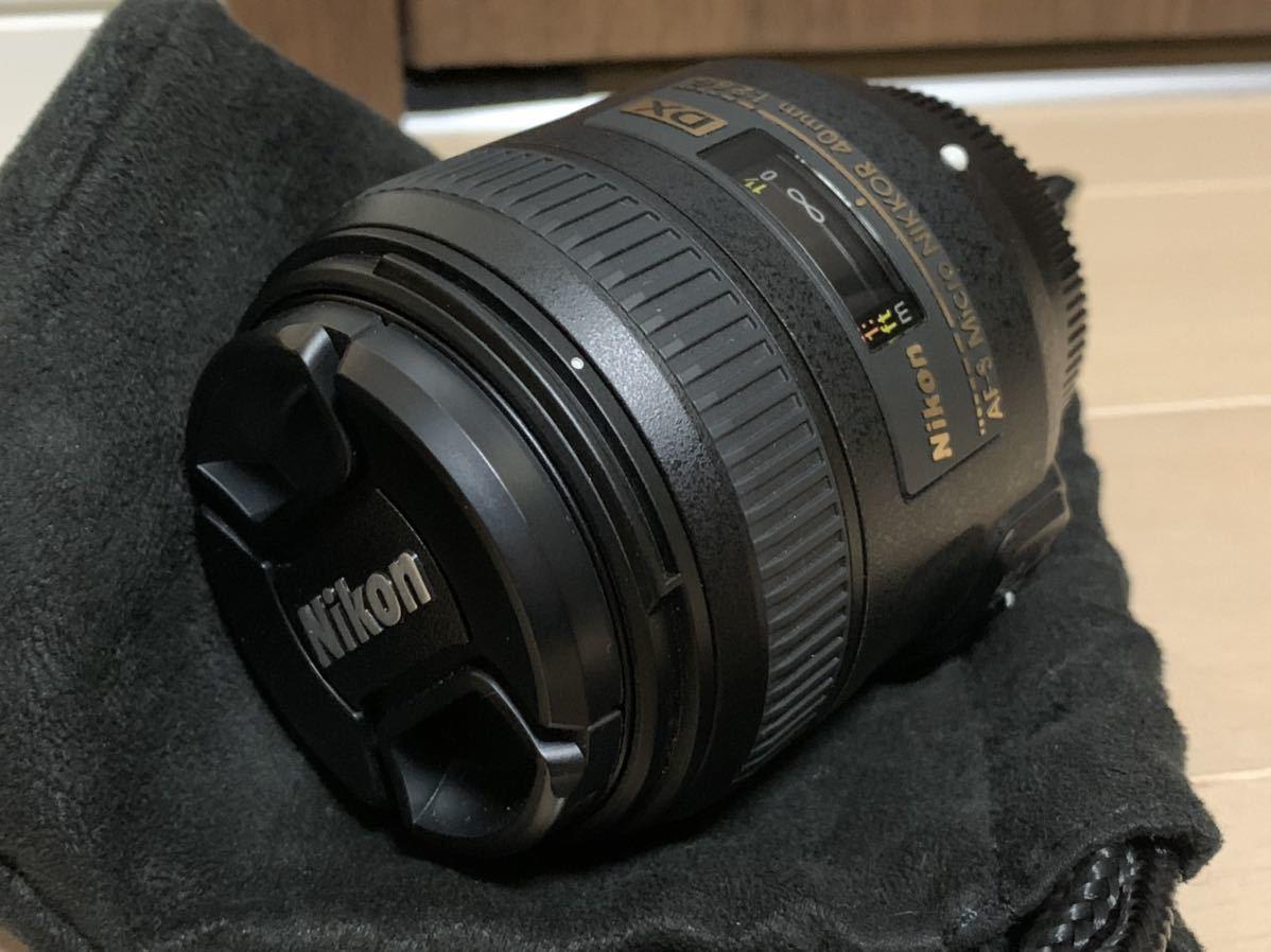 美品 Nikon 単焦点 マイクロ レンズ AF-S DX Micro NIKKOR 40mm f/2.8G HB-61 バヨネットフード セット ニコン 送料無料 匿名配送