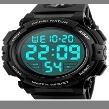 ☆即決・4-ブラック 腕時計 メンズ デジタル スポーツ 50メートル防水 おしゃれ 多機能 LED表示 アウトドア_画像1