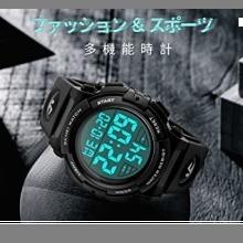 ☆即決・4-ブラック 腕時計 メンズ デジタル スポーツ 50メートル防水 おしゃれ 多機能 LED表示 アウトドア_画像2