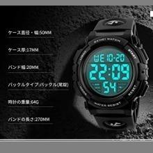 ☆即決・4-ブラック 腕時計 メンズ デジタル スポーツ 50メートル防水 おしゃれ 多機能 LED表示 アウトドア_画像7