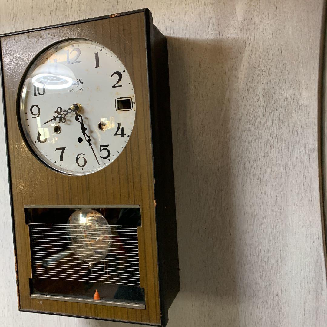 Meiji アンティーク 掛け時計 無音 ムーブメント交換済 柱時計をリメイク_画像4