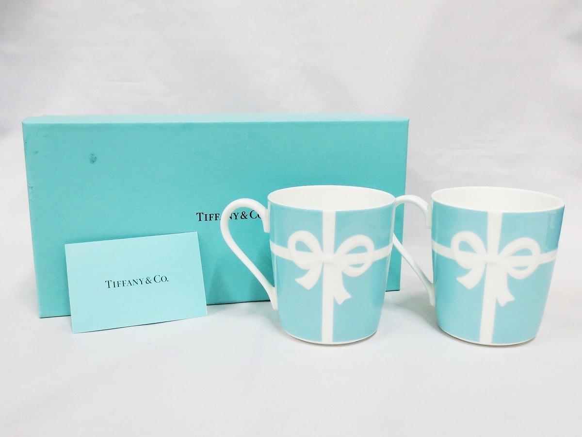 未使用★Tiffany & Co. ティファニー ブルーボックスマグ ペアマグカップ 2個セット 化粧箱付き (1708)