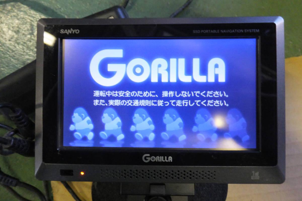 【送料無料】SANYO サンヨー NV-SB360DTA ゴリラ ポータブルナビゲーション_画像2