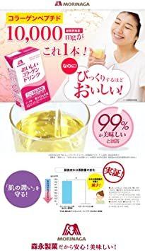 森永製菓 おいしいコラーゲンドリンク 125ml×24本 レモン味 [ 美容 コラーゲン セラミド ビタミンC ビタ_画像3
