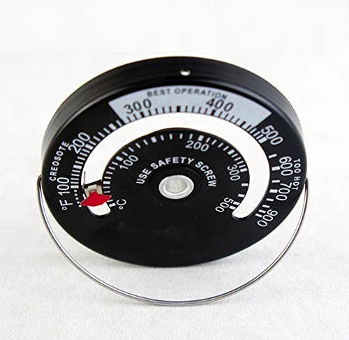【大特価!】 【即決】Tomerry 最新版 マグネット式 ストーブ温度計 薪ストーブ ピザ窯 0度~500度まで計測_画像2