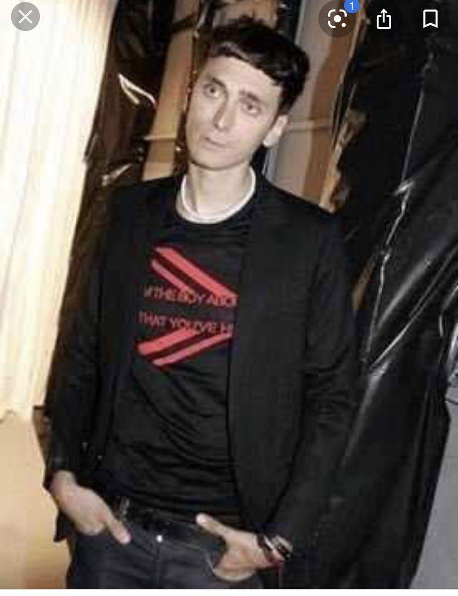 名作 06ss ディオールオム ユニオンジャックTシャツ S 赤 エディスリマン期 サンローラン セリーヌ