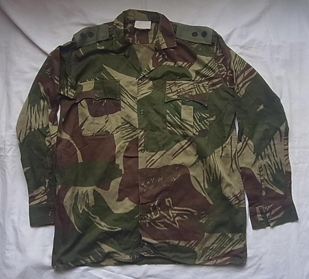 実物 ローデシア軍 初付け中尉階級章付き迷彩長袖コンバットシャツ 良サイズ 南アフリカ 特殊部隊 セルーススカウト SAS RECCE 32大隊 PMC_画像1