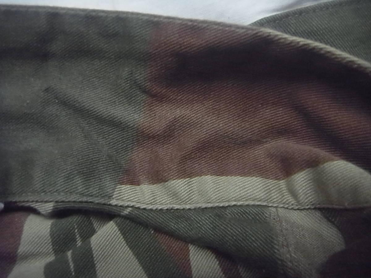 実物 ローデシア軍 初付け中尉階級章付き迷彩長袖コンバットシャツ 良サイズ 南アフリカ 特殊部隊 セルーススカウト SAS RECCE 32大隊 PMC_襟